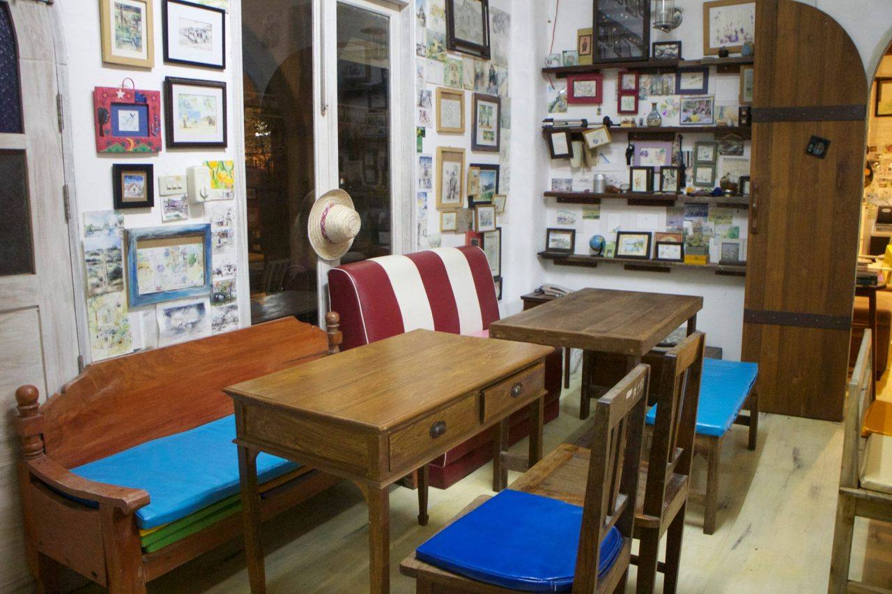 skecth book art cafe 2